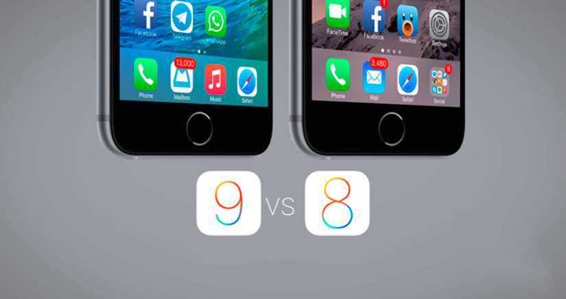 21 cambios visuales entre iOS 9 y iOS 8.3 [fotos]