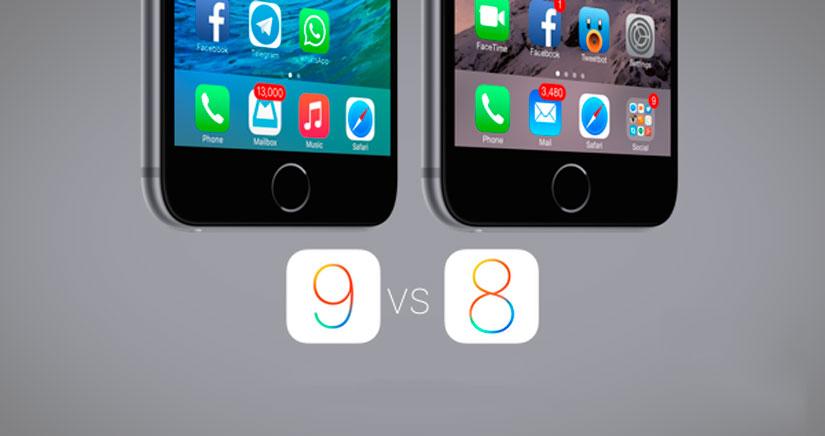 21 cambios visuales entre iOS 9 y iOS 8.3 [fotos]