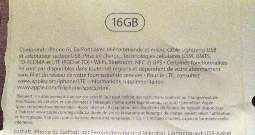 Una nueva filtración sugiere que el modelo básico del iPhone 6s será de 16 GB