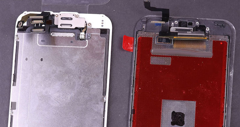 El panel frontal del iPhone 6s tiene un chip misterioso que podría estar relacionado con Force Touch [Fotos]