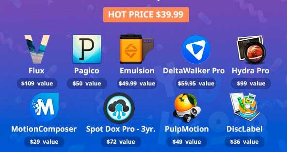 Súper Pack de aplicaciones para Mac con un 92% de descuento