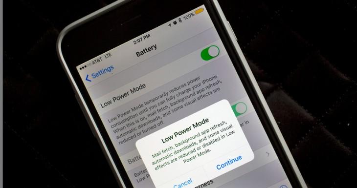 Cómo ahorrar batería con iOS 9 y su modo de bajo consumo