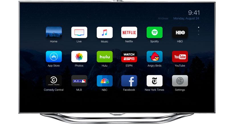 Así podría ser la interfaz de usuario de la Apple TV 4 (Concepto)
