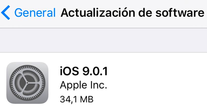 iOS 9.0.1 disponible para descargar, estas son las novedades