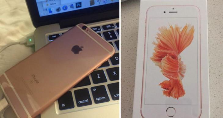 Una afortunada usuaria recibe su iPhone 6s varios días antes del lanzamiento