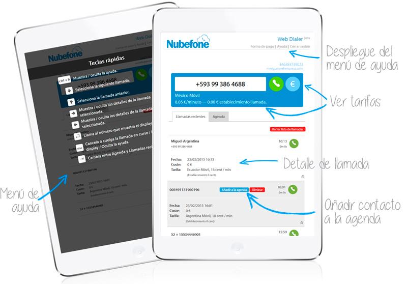 Web Dialer Nubefone
