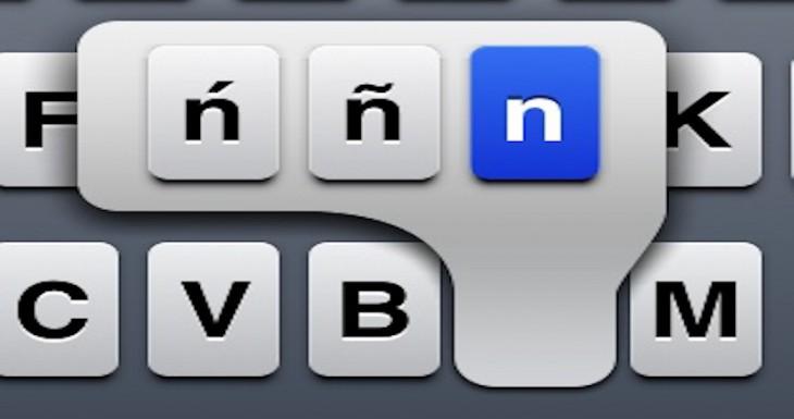 Elimina los caracteres especiales del teclado del iPhone