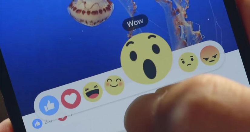 """Facebook introduce """"Reactions"""" una ampliación de """"me gusta"""" para expresar otras emociones mediante emojis"""