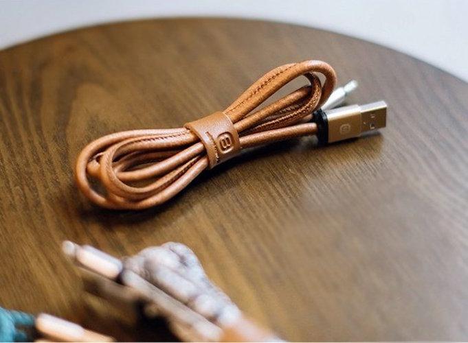 Cable iPhone cuero