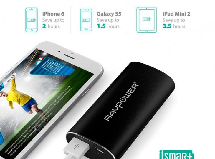 Rav Power, batería externa para iPhone de 6700 mAh
