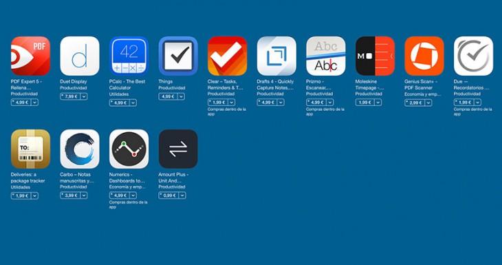 Apple ofrece un descuento del 50% en una selección de aplicaciones de productividad