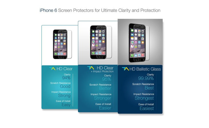 Protector de pantalla de cristal balístico Tech Armor