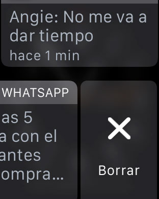Quitar notificaciones Apple Watch