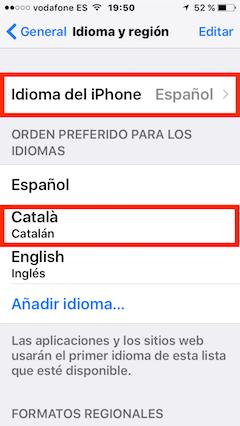 cambiar a español