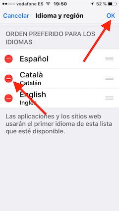 eliminar idioma