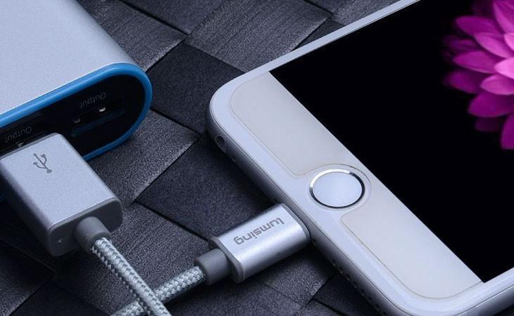 Cable de carga y sincronización de Nylon para iPhone y iPad