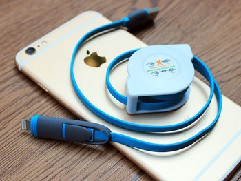 Cable de carga retráctil para iPhone y Android
