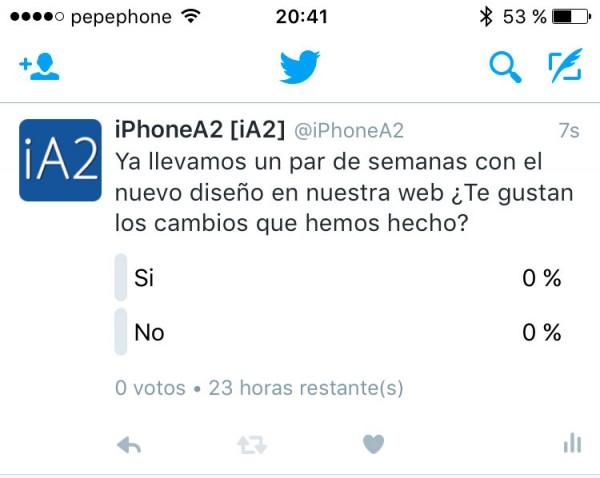 Encuestas Twitter iPhone