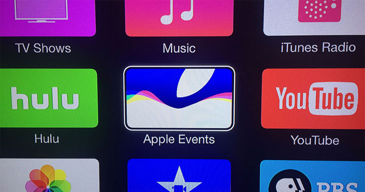 "Apple lanza la aplicación ""Apple Events"" para Apple TV a tiempo para su keynote"