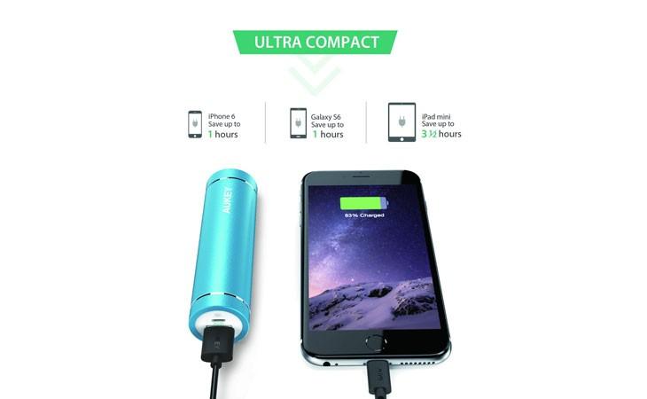 Batería externa ultra compacta, de 5.000 mAh