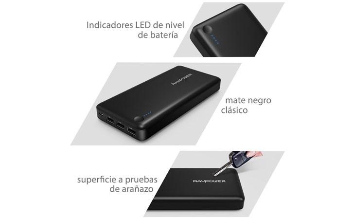 Batería externa iPhone de gran capacidad de RAVpower [26.800 mAh]