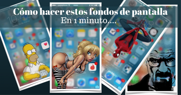 Cómo hacer fondos de pantalla chulos para el iPhone tu