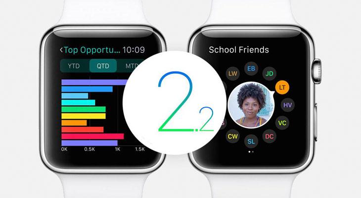WatchOS 2.2 disponible para descargar, estas son las novedades