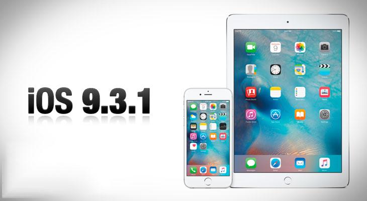 iOS 9.3.1 disponible para descargar, arregla problemas con enlaces
