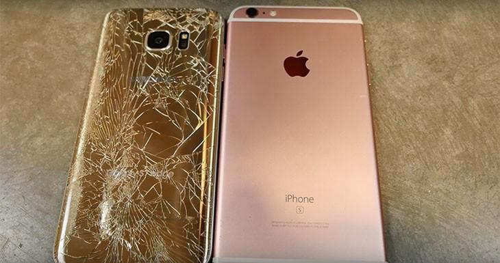 iPhone 6s Pus vs Galaxy S7 edge: ¿cuál resiste mejor el agua y las caídas? [Vídeos]