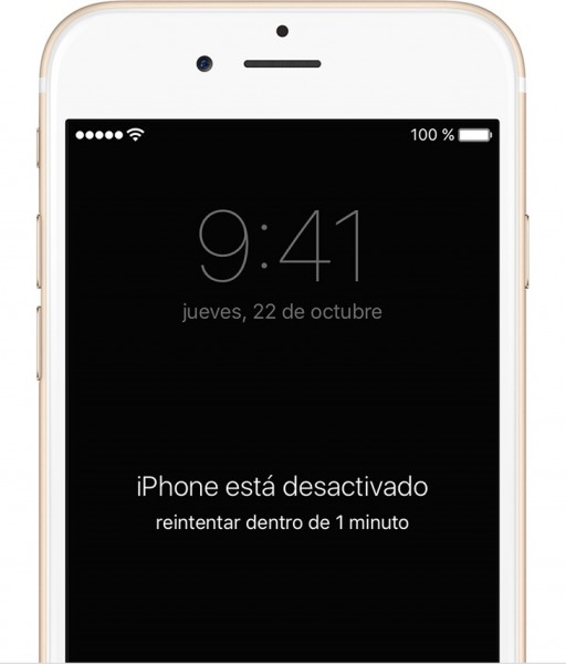 iPhone desactivado