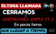Última llamada para participar en el sorteo del Apple TV4 en iPhoneA2