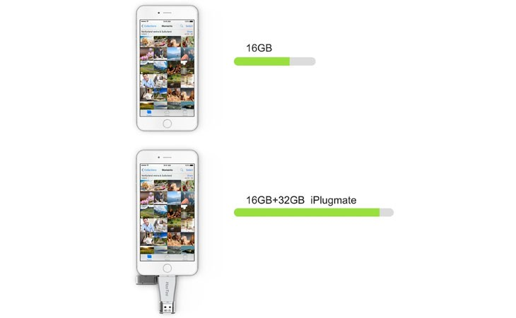 Memoria USB a Lighting de 32 Gb (Ampliar la memoria de tu iPhone)