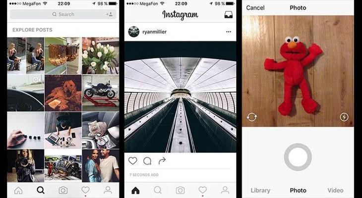 Instagram está probando un diseño más minimalista para su aplicación