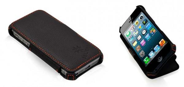 0c75795e872 Funda de cuero para iPhone SE, 5 y 5s - Manna Leicke Smart Cover