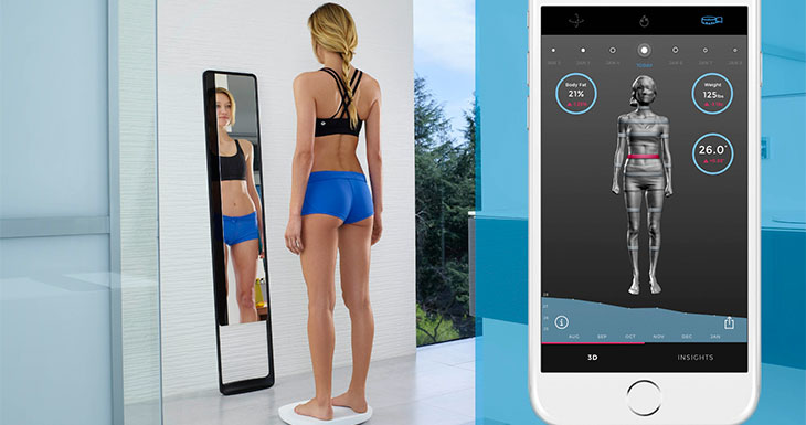 Naked: el espejo mágico que escanea tu cuerpo y mide tus progresos