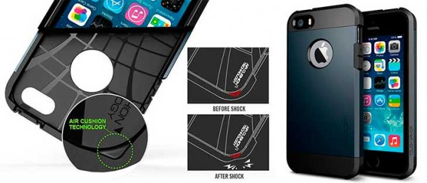 Funda ultrarresistente iPhone 5 Spigen