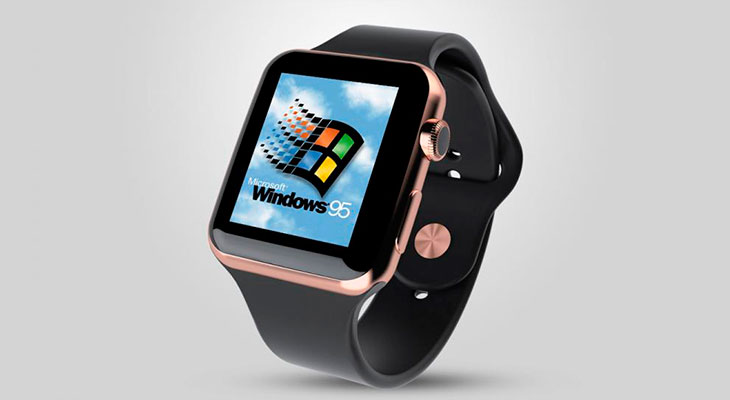 Instalan Windows 95 en un Apple Watch… y funciona