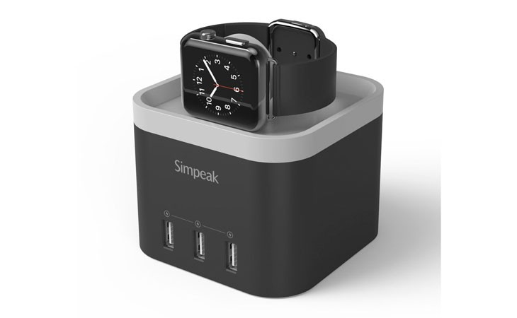 Base de carga Apple Watch con 3 USB