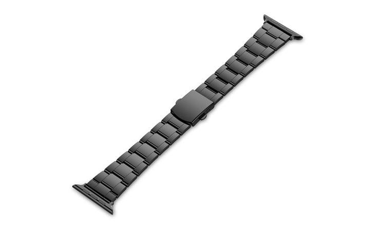 Correa negra de Acero inoxidable para Apple Watch 42 mm