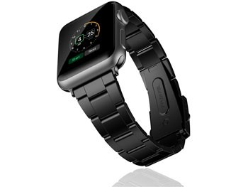 Correa negra de Acero inoxidable para Apple Watch 42 mm