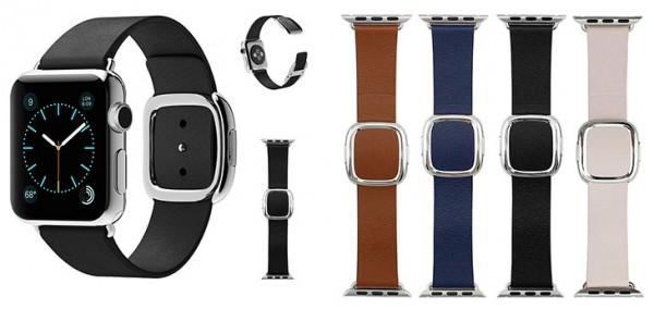 Correa de cuero con hebilla moderna para Apple Watch - Maker