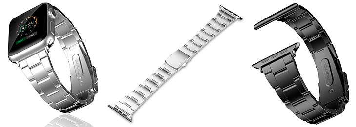 Correa de acero inoxidable barata para Apple Watch - JETech Steel