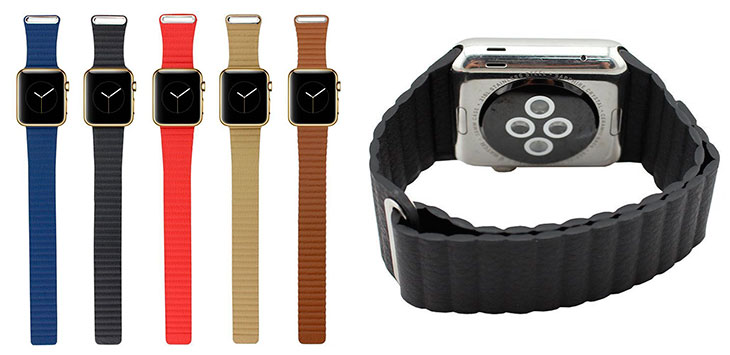Correa de piel estilo Loop para Apple Watch - Wollpo