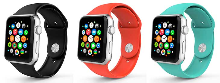 Correa de silicona para Apple Watch - MoKo Soft Silicone