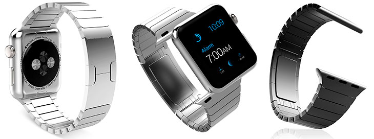 Correa de eslabones acero inoxidable para Apple Watch - MoKo Stainless Steel
