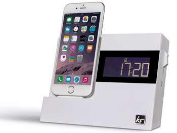Reloj despertador con base de carga para iPhone y radio