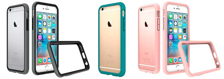 "Bumper tipo ""marco"" para iPhone 6, 6s, 6 Plus y 6s Plus - RhinoShield CrashGuard 2.0"