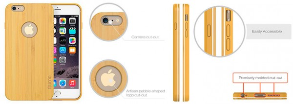 Funda de madera para iPhone 6 y 6s - Slicoo Nature Series