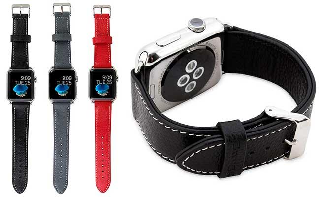 Correa de cuero estilo Simple Tour para Apple Watch - Snugg Leather