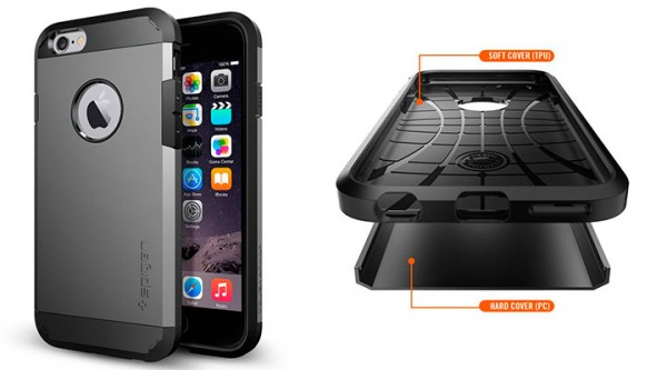 Funda ultrarresistente para iPhone 6 y 6s - Spigen Tough Armor